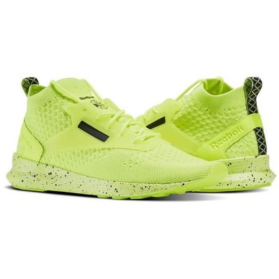 REEBOK ZOKU RUNNER ULTRAKNIT 男鞋 慢跑鞋 潑墨 螢光綠 運動 健身 BS6313 YTS