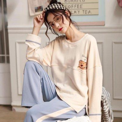 【蘑菇小隊】睡衣女秋季新款純棉長袖甜美可愛女士家居服休閒寬鬆秋天兩件套裝-MG22840