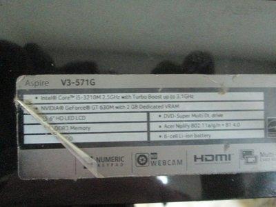 台中筆電維修:專修 宏碁ACER aspire V3-571G保內泡水機維修,不開機,時開時不開主機板維修