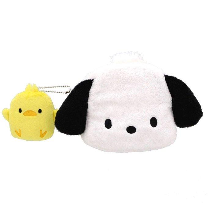 41+ 現貨免運 挑戰YAHOO最低價 日本正版 my4165 絨毛 造型 化妝包 好友 零錢包 帕恰狗