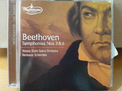 "Scherchen,Beethoven-Sym No.3""Eroica""&6""Pastorale"",謝爾亨指揮,演繹貝多芬-第3號""英雄""&6號""田園""交響曲."