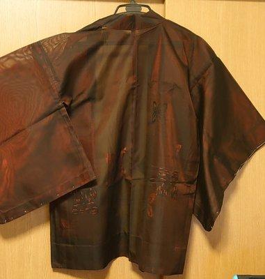 ☆玉兒天地☆日本和服外套(羽織)-高級正絹材質ー搭牛仔褲也酷喔