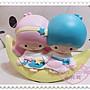 ♥小花花日本精品♥ Hello Kitty 雙子星陶瓷...