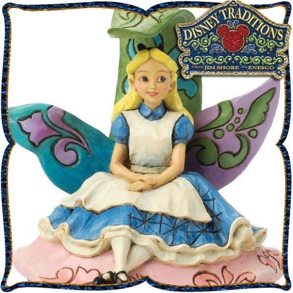 ♥心樂格格♥♫Disney Traditions  迪士尼 [愛麗絲 夢遊仙境 木雕風景品 模型 禮品]全新美版稀有品~