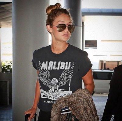 【WEEKEND】 LOCAL AUTHORITY Malibu 老鷹 短袖 T恤 仿舊 黑色 18春夏新款 Gigi
