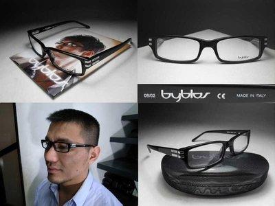 【信義計劃眼鏡】byblos 眼鏡  義大利製當季黑色膠框方框 搭配襯衫外套長褲背包T恤涼鞋
