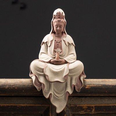 【睿智精品】陶瓷淨瓶觀音菩薩 南無觀世音菩薩佛像 法像莊嚴(GA-5140)