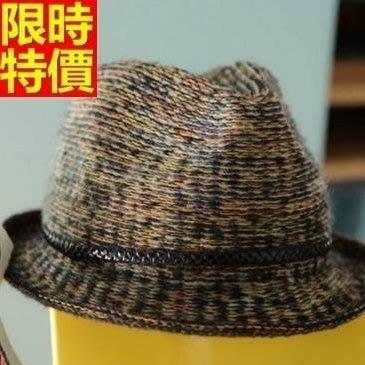 爵士帽 小禮帽-春夏款捲邊新潮英倫風花色女帽子67e46[獨家進口][巴黎精品]