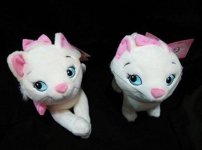 藍河馬X 全新 正版 迪士尼 Disney Marie 富貴貓 瑪麗貓 瑪莉貓 絨毛玩偶 公仔 一對