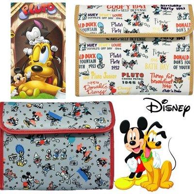 尼德斯Nydus~* 日本正版 迪士尼 米奇 米妮 布魯托 零錢包 證件夾 護照套 多用途 手拿包 手帳 共2款