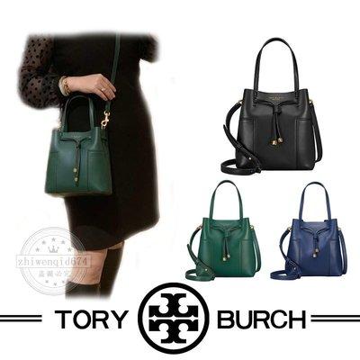年度回饋特價 Tory Burch 女包 水桶包 單肩包 TB包包 肩帶可調節抽繩女士包包