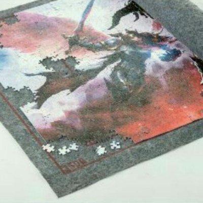 【現貨】最新加厚款 拼圖專用毯 拼圖墊 拼圖收納3000片 灰