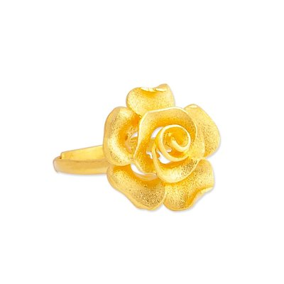 【JHT 金宏總珠寶/GIA鑽石】1.53錢 玫瑰花黃金戒指 (請詳閱商品描述)