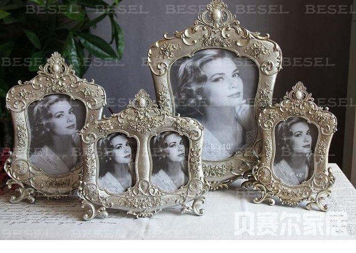 INPHIC-6吋7吋10吋巴洛克風格樹脂相框 相架 歐式家裝飾品