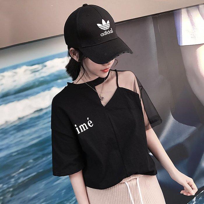 ❤Princess x Shop❤寬鬆露肩短袖上衣DL1904061正韓國連線吊帶褲蕾絲一字領露肩
