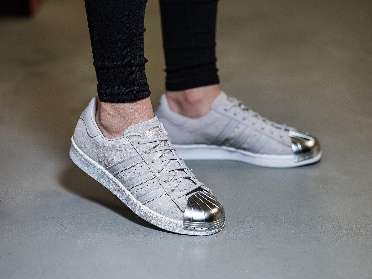 10 現貨 adidas Superstar 80S Metal Toe 灰 金屬鞋頭 亮銀色 S76711 22.5
