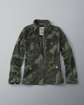 Maple麋鹿小舖 Abercrombie&Fitch * AF 軍綠色迷彩腰身外套 *( 現貨L號 )