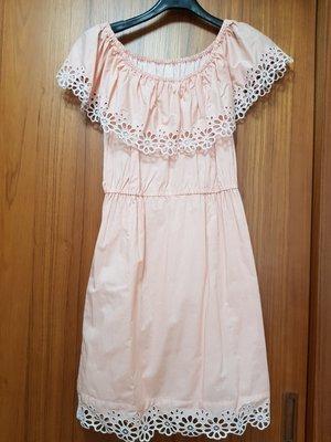 日本品牌CHESTY二穿式粉橘色洋裝