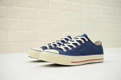"""匡威Converse 1970S三星標經典低幫復古做舊帆布鞋""""黃油牛仔藍""""159569C"""