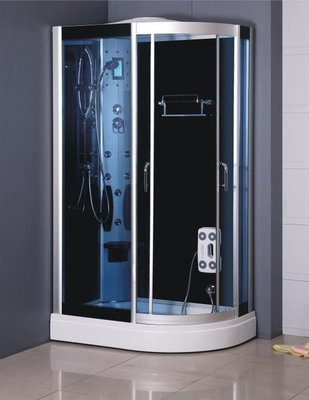 FUO衛浴: 整體式 強化玻璃 乾濕分離淋浴間 不含蒸汽功能 (A7012L)  預訂中!
