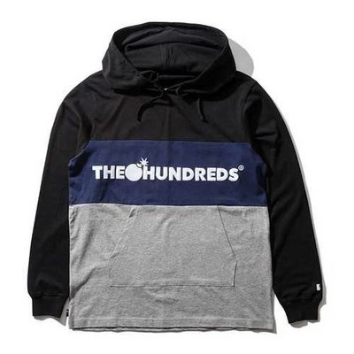THE HUNDREDS DECK HOODED厚帽T-黑色【Hopes Taiwan】