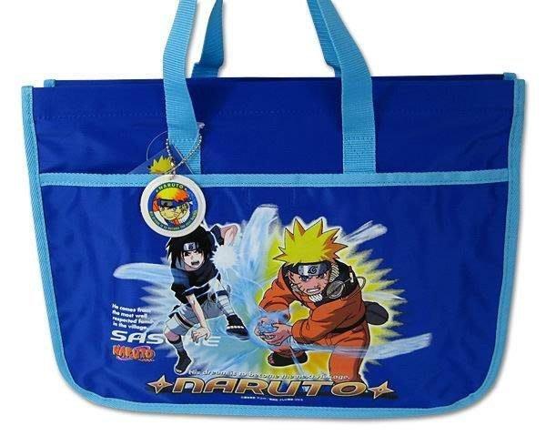 ~FUJIJO~現貨~限時超低價~日本正版原裝進口【火影忍者】藍色手提包 附鳴人名字吊牌 樂譜提袋