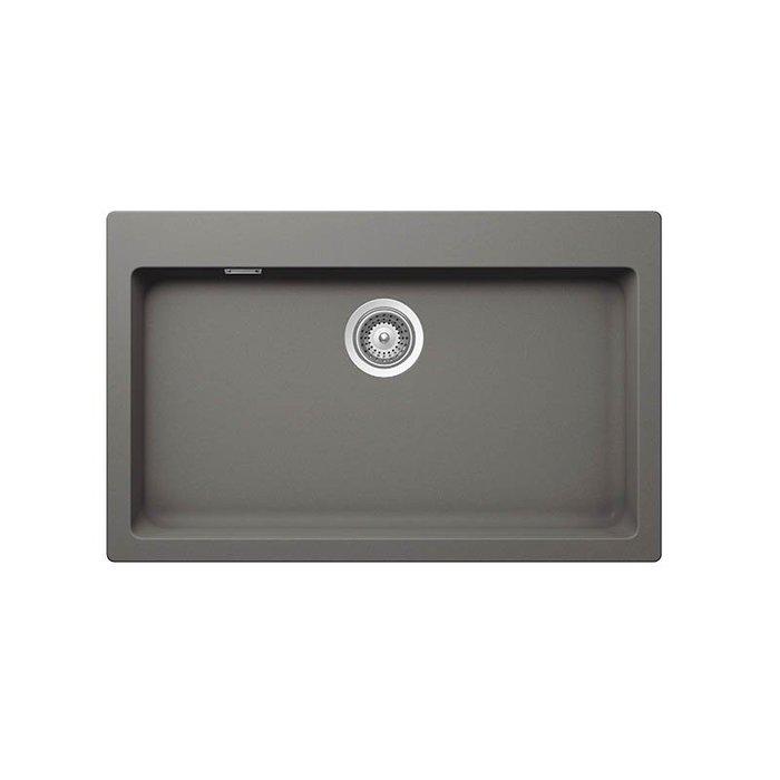 【路德廚衛】德國原裝進口SCHOCK花崗岩水槽R79-91銀灰色