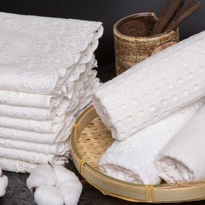 戀物星球 棉 白色鏤空蕾絲婚紗布料繡花布刺繡布面鏤空布料