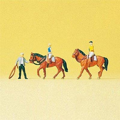 傑仲 (有發票) 博蘭 Preiser 人物組 The Riding Sch001 79185 N