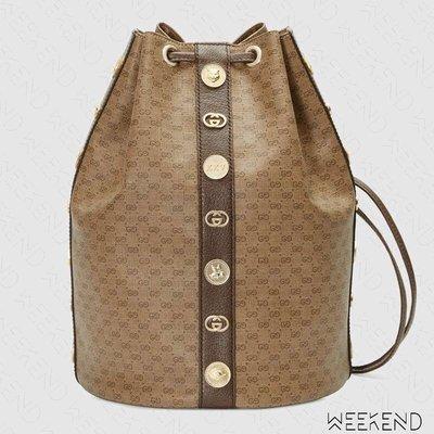 【WEEKEND】 GUCCI Mini GG Supreme 金屬配飾 水桶包 後背包 574775 19秋冬