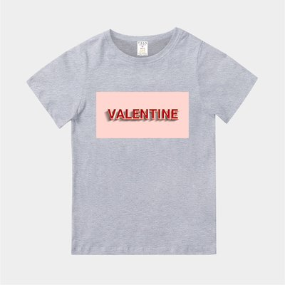 T365 MIT 親子裝 T恤 童裝 情侶裝 標語 話題 口號 標誌 美式風格 slogan VALENTINE 情人節