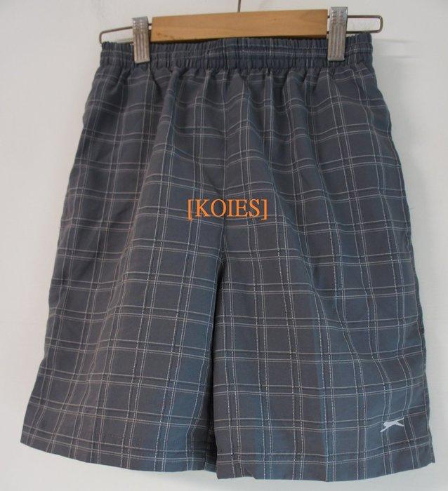 [KOIES] 一元起標無底價 英國百年運動品牌 Slazenger 格紋運動休閒短褲11-12 網球