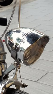 77號單車站 復古式頭燈led電池式,砲彈式,磨電燈