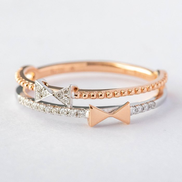 【JHT金宏總珠寶/GIA鑽石專賣】0.07克拉小鑽線戒 #10 /材質:18K(DR1817A)