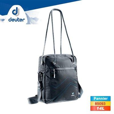 丹大戶外 【Deuter】德國 Pannier 休閒旅遊水桶提包85093(14L) 黑/藍