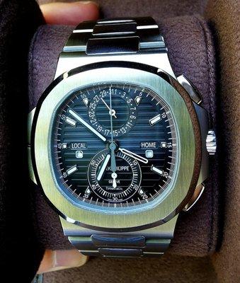 "Patek Philippe ""Tiffany & Co."" [NEW] Nautilus Travel Time Chronograph 5990/1A"