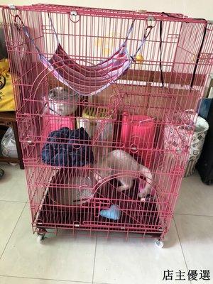 寵物籠貓籠貓咪籠子貓別墅二層貓舍大號帶廁所折疊便攜外出三層四層