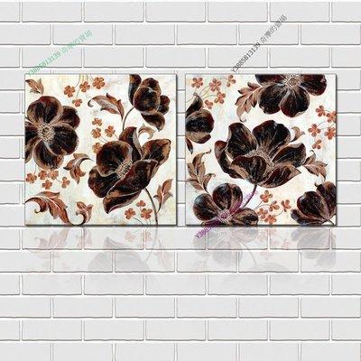 【60*60cm】【厚1.2cm】抽象花-無框畫裝飾畫版畫客廳簡約家居餐廳臥室牆壁【280101_186】(1套價格)