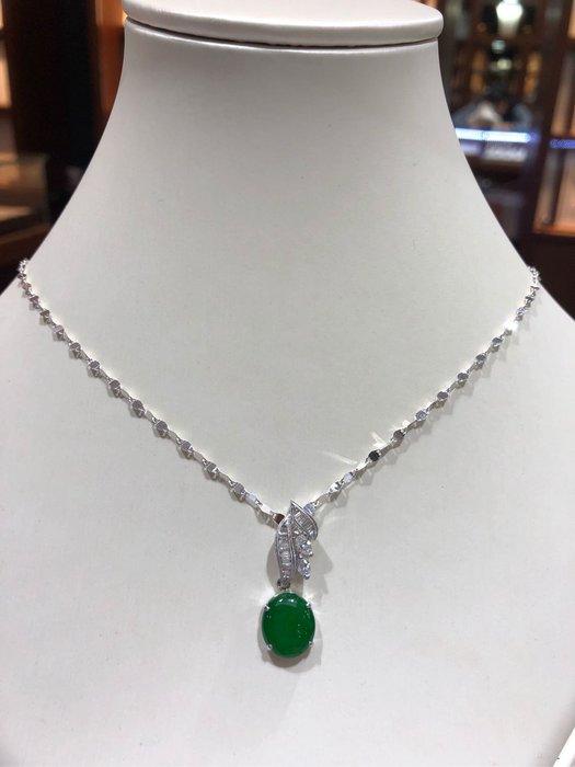 天然A貨翡翠鑽石墜飾,兩用墜台款式,可隨意調整搭配,超值優惠價25800,搭配超高等級鑽石