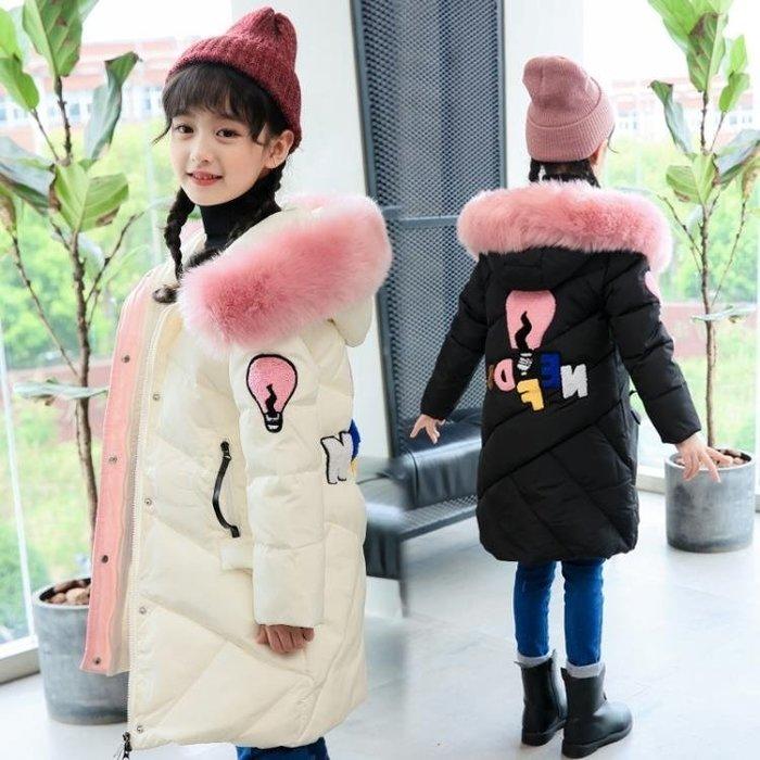 999女童棉衣新款韓版洋氣中大童棉襖外套兒童羽絨棉服中長款冬裝01KK12