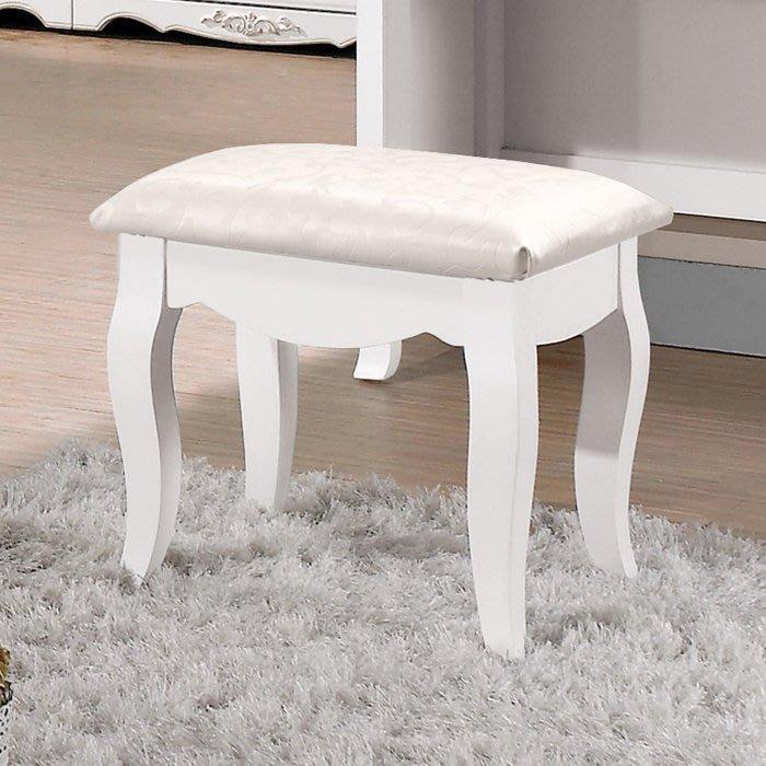 新悅傢俱訂製工廠/cnc加工訂做家具 18-4-115-6 諾維雅古典皮面化妝椅/鏡台椅