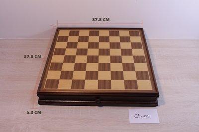 [桌遊] 胡桃木製兩用西洋棋組 chess / checker
