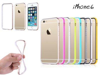 蝦靡龍美【PH458】TOTU iPhone 6 4.7吋 四面加高 炫彩軟邊框 保護殼 手機套 金屬邊框 鋼化貼膜