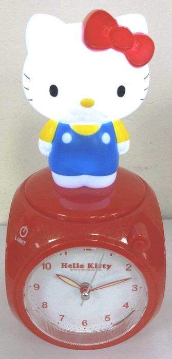 41+ 現貨免運費 HELLO KITTY 觸控小夜燈 造型鬧鐘 兩色可選 周年慶特價 小日尼三