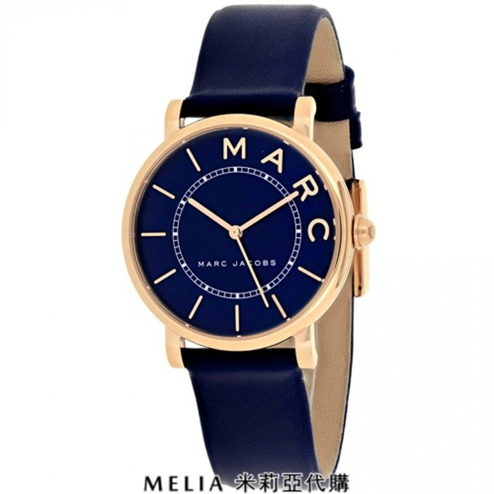 Melia 米莉亞代購 美國代買 MARC JACOBS MJ1539 女士款 手錶 精品錶 石英錶 玫瑰金框 深藍錶帶