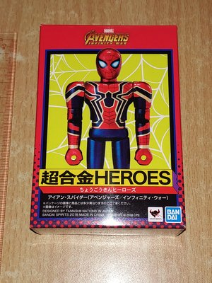 全新 Bandai Chogokin Heroes Marvel Iron Spider Mini Figure 超合金 復仇者聯盟 鋼蜘蛛俠 日版