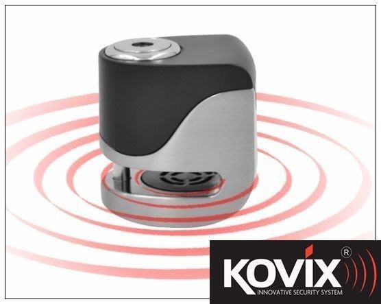 KOVIX官方直營店 新款 KOVIX KS6 不鏽鋼色 送雙好禮 警報碟煞鎖 機車鎖 機車大鎖