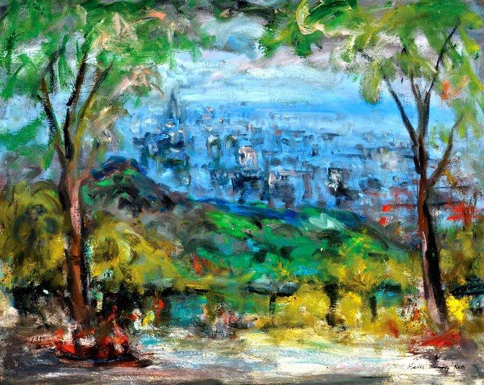 L2291 高秀明 台北 1999 30號 油畫 (油彩、野獸派、台灣、苗栗、造橋、本土、星期日畫會、張萬傳、蔣瑞坑)