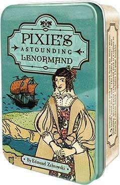 【預馨緣塔羅鋪】現貨正版袖珍偉特風雷諾曼卡Pixie's Astounding Lenormand(全新36張)鐵盒版