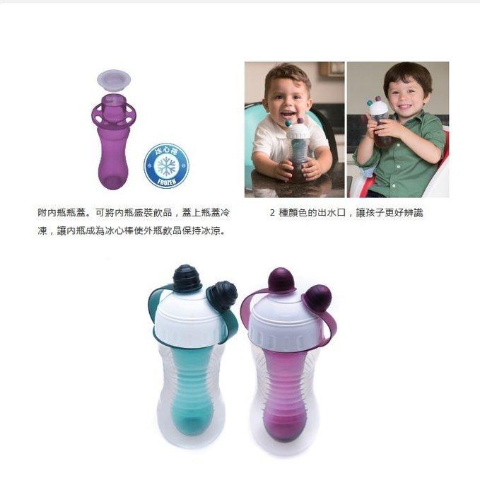 【小糖雜貨舖】英國 Brother Max 雙層冷飲壺 水杯 冰心棒 - 綠色/紫色